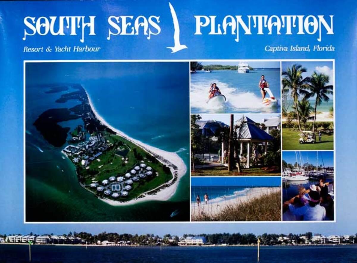 South Seas Plantation Original American Travel Poster Captiva Island Florida
