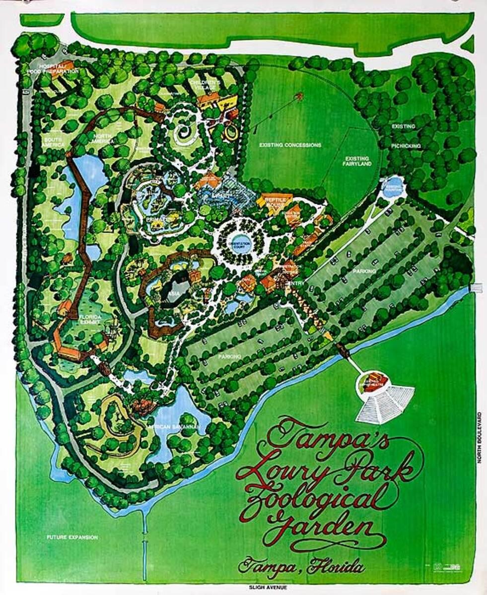 Tampa Loury Park Florida Original Travel Poster