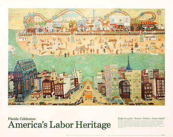 Florida Celebrates America's Labor Heritage Original Travel Poster