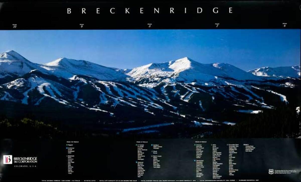 Breckenridge Original American Ski Travel Poster