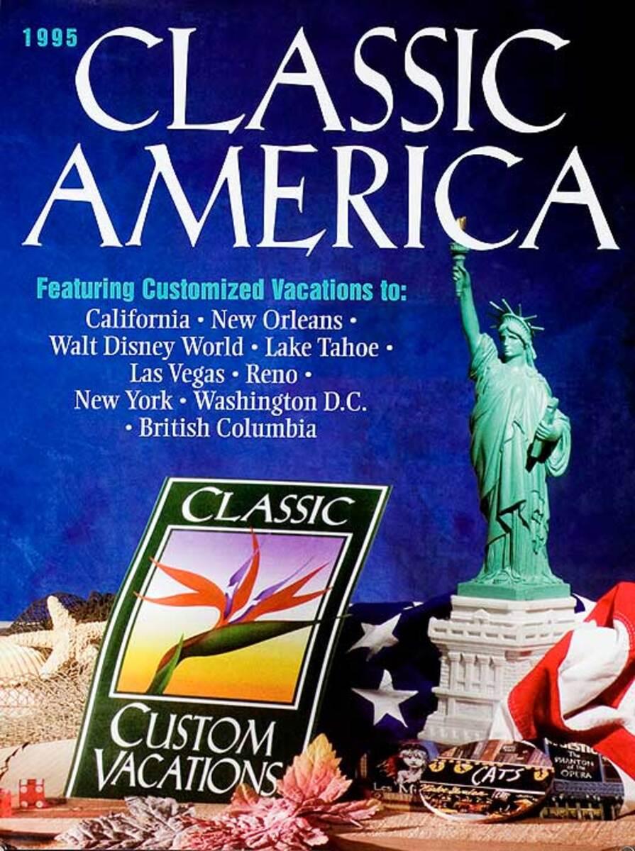 Classic America Original Travel Guide Advertising Poster