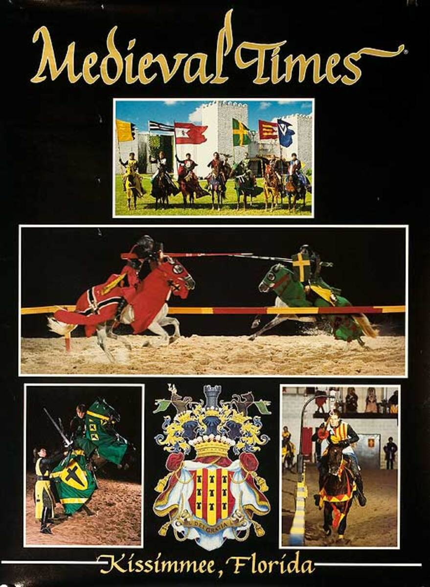 Medieval Times Kissimmee Florida American Travel Poster