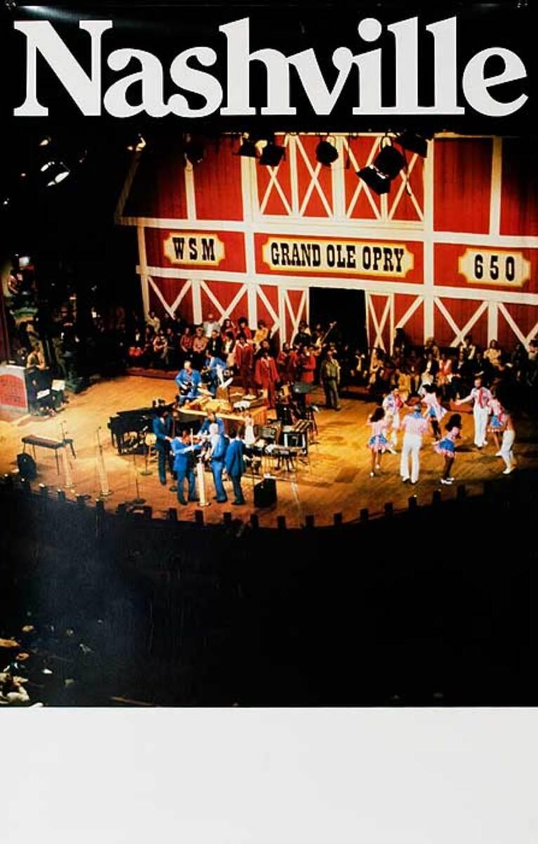 Nashville Grand Ole Opry Original American Travel Poster