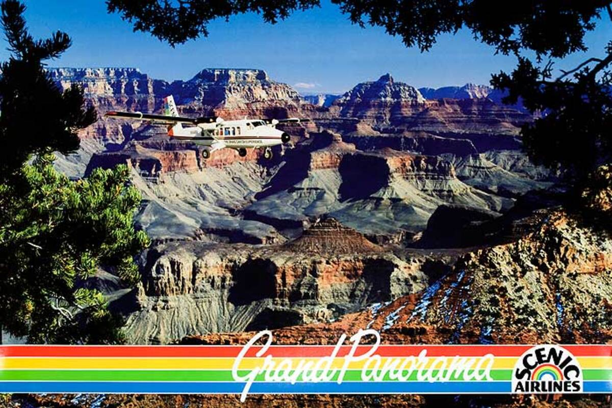 Grand Panorama Scenic Airlines Original American Grand Canyon Travel Poster
