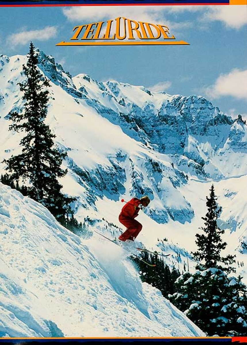 Telluride Colorado Original American Ski Travel Poster