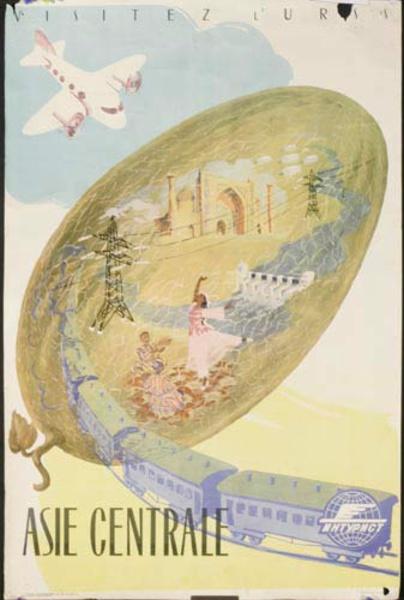 Asie Centrale Original USSR Travel Poster