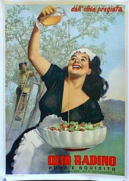 Olio Radino Original Vintage Poster