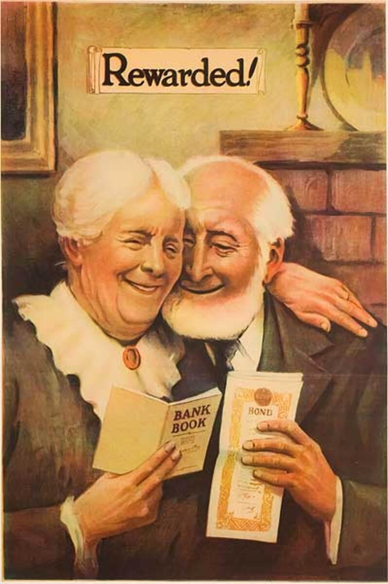 Original American Bank Poster Rewarded