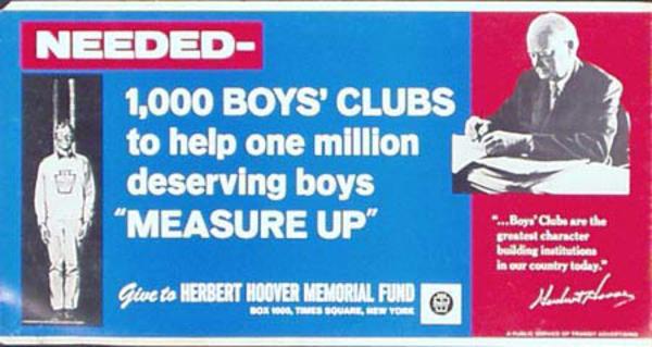 Boys Club Original Vintage Charity Poster