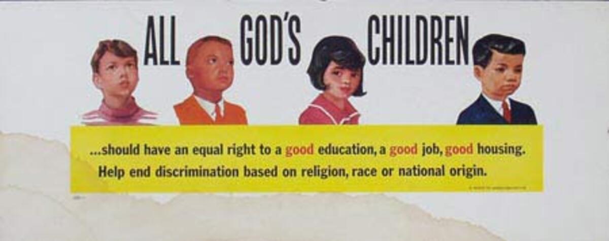 All Gods Children Original Vintage Civics Poster