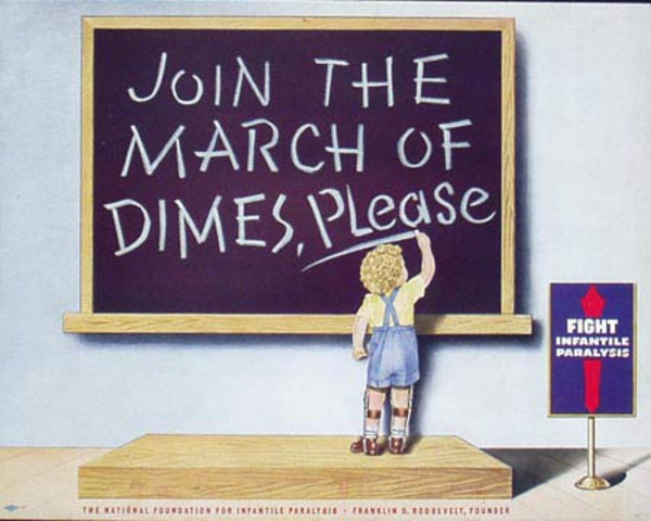 March Of Dimes Original Vintage Fundraising Poster
