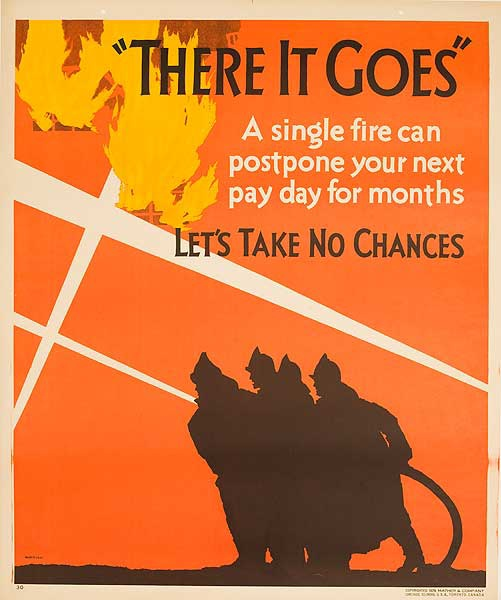 There it Goes, Lets Take No Chances Original Mather Work Incentive Poster