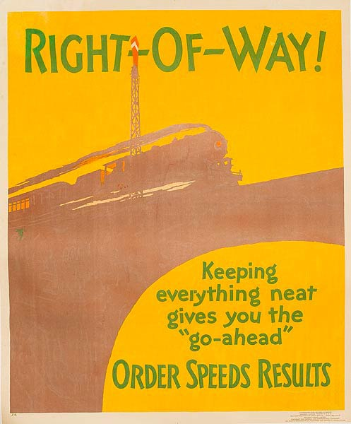 Right of Way Order Speeds Results Original Mather Work Insentive Poster