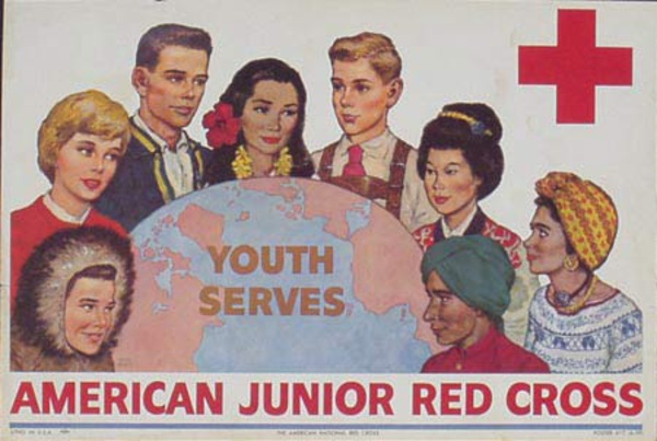 Red Cross Original Public Service Poster American Junior Red Cross, Youth Serves