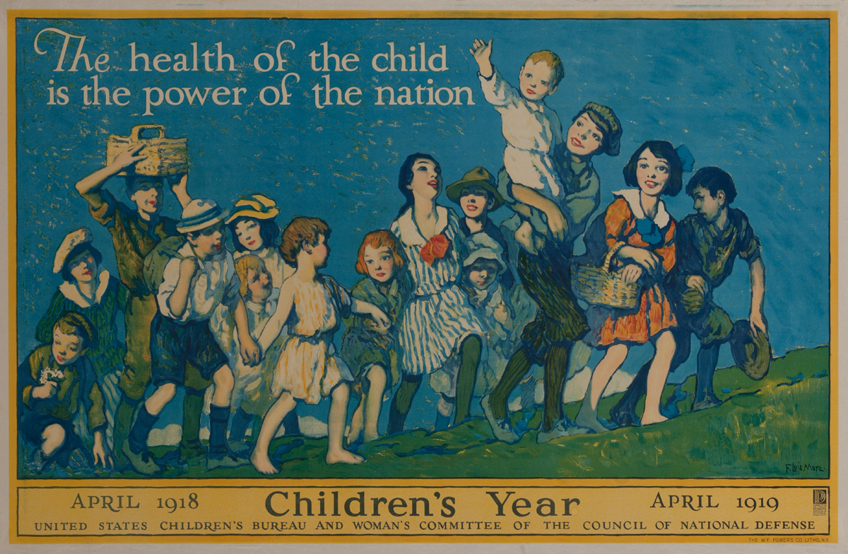 1918 Children's Year Original World War One Homefront Poster