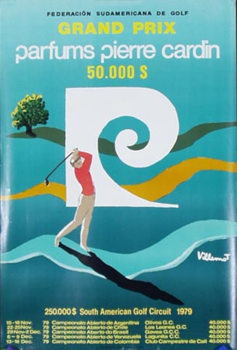 1979 Piere Cardin South American Golf Circuit Poster