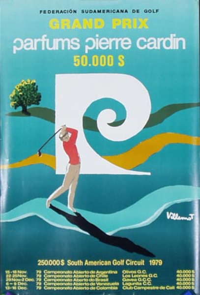 1979 Piere Cardin South American [[Golf]] Circuit Poster