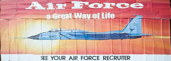 Air Force A Great Way of Life, Original US Recruiting Billboard