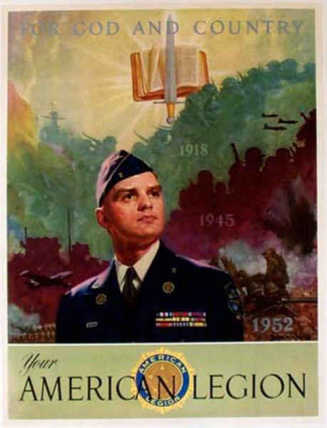 Original Vintage American Legion Poster