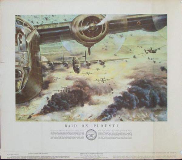 Raid On Ploesti Original Vintage Army Propaganda Poster