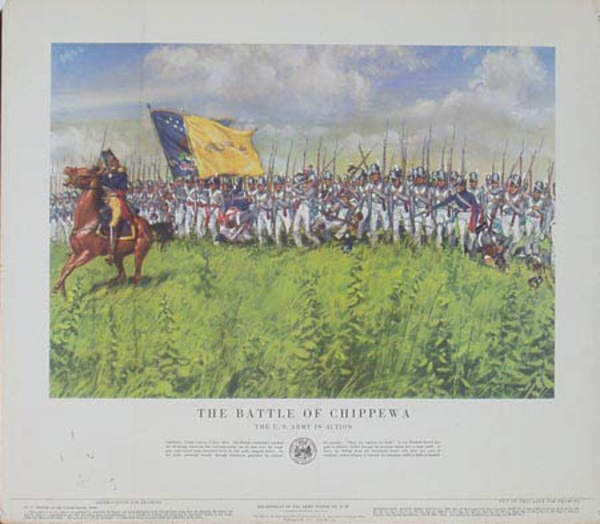 The Battle Of Chippewa U.S. Army in Action Original Vintage Army Propaganda Poster