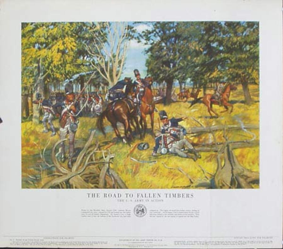 The Road to Fallen Timbers U.S. Army in Action Original Vintage Army Propaganda Poster