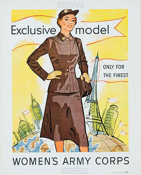Exclusive Model Original Korean Era Women's Army Corp Recruiting Poster