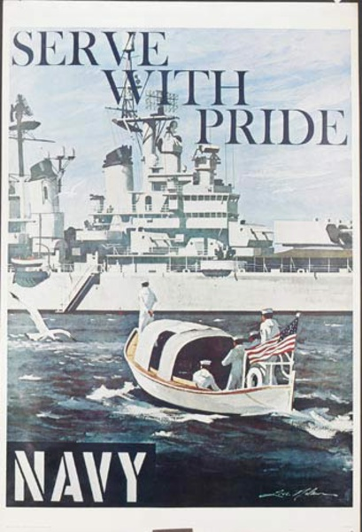 Serve With Pride Original Navy Recruiting Poster