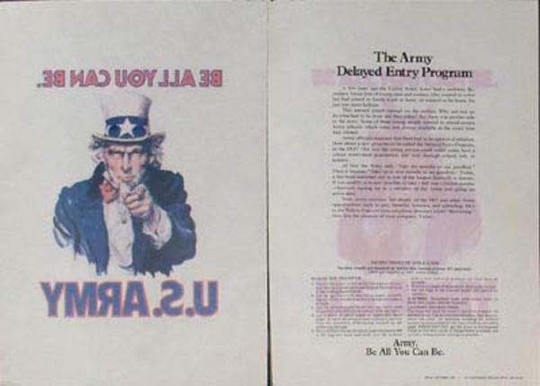 Post Vietnam War era Uncle Sam I Want You, iron on decal