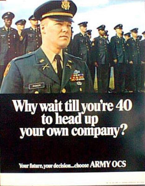 Why Wait? Original Vintage Vietnam Army Recruiting Poster