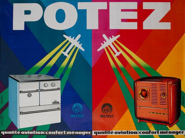 Potez Heater/Range Original Vintage Poster