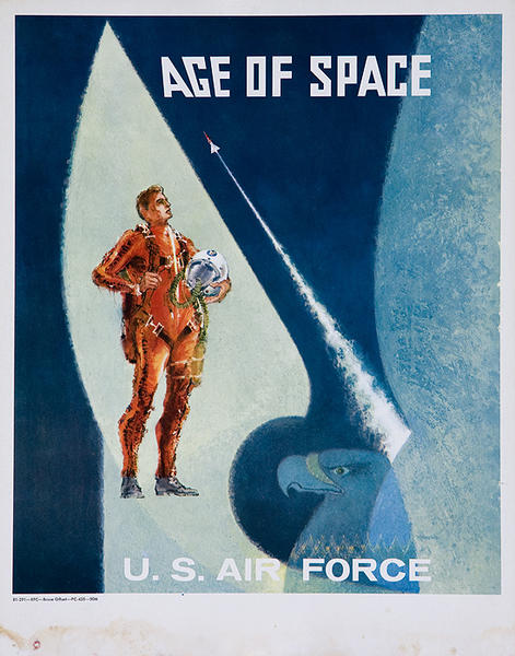 Vietnam War Era Original Recruiting Poster Age of Space
