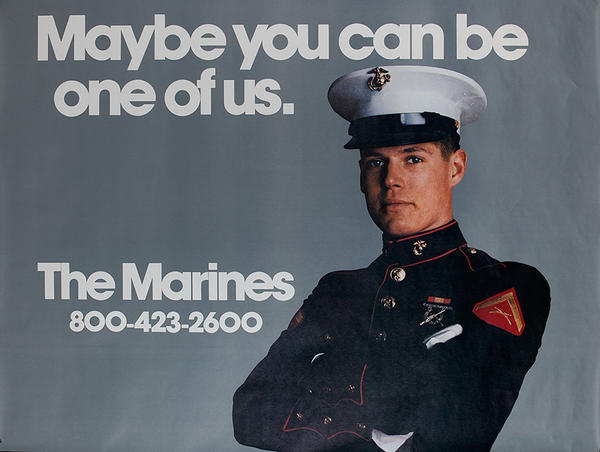 Maybe You Can Be One Of Us Original Vietnam Era Marine Recruiting Poster
