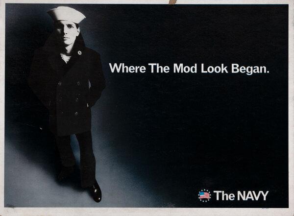 Where The Mod Look Began Original Vintage Vietnam Navy Recruiting Poster