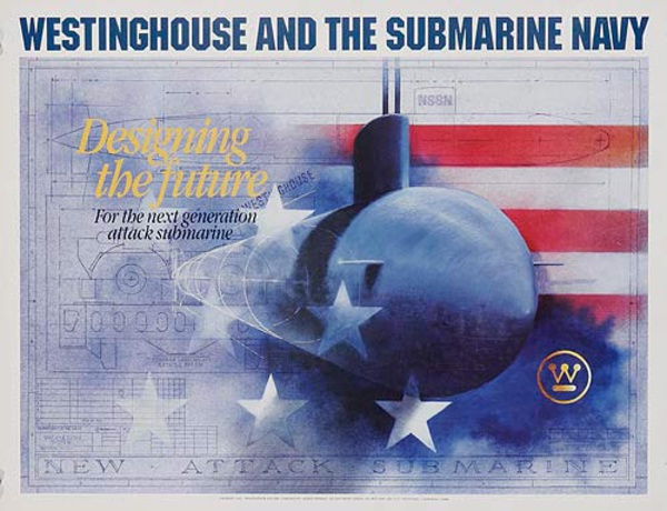 Westinghouse and the Submarine Navy Original Promotional Poster