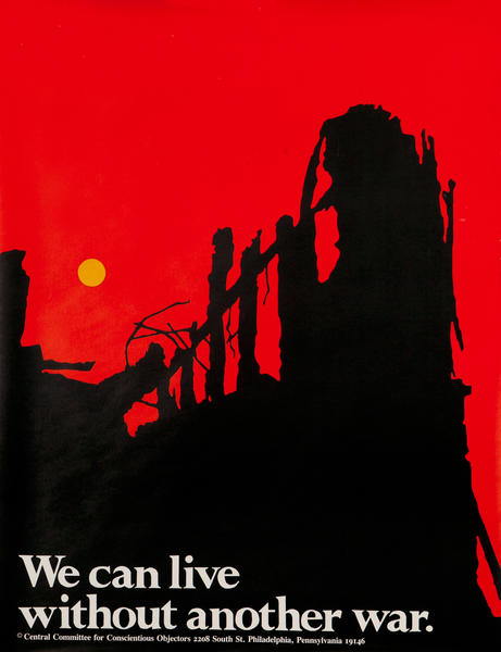 Without Another War Vietnam Original Vintage Peace Poster