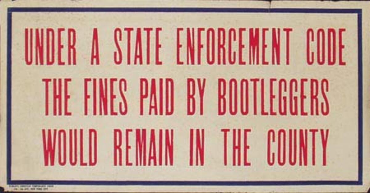 Original Vintage Anti Prohibition Repeal Poster