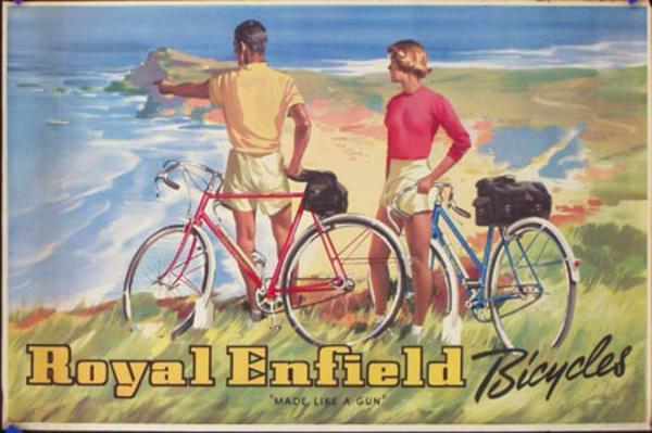 Royal Enfield Bicycle Original Vintage Advertising Poster