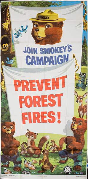 Join Smokey's Campaign Prevent Forest Fires Original Fire Prevention Poster