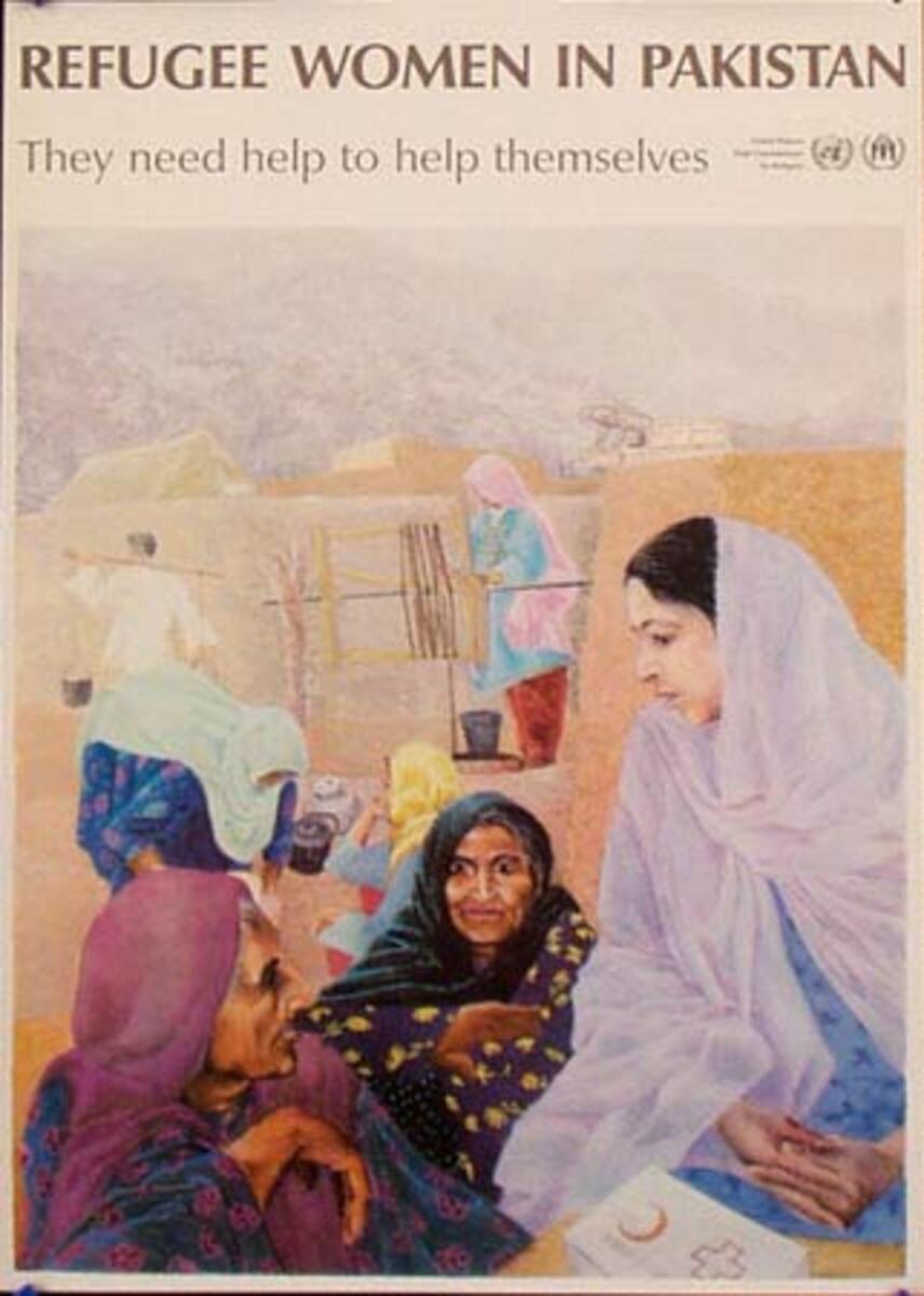 United Nations Original Poster Refuge Women in Pakistan
