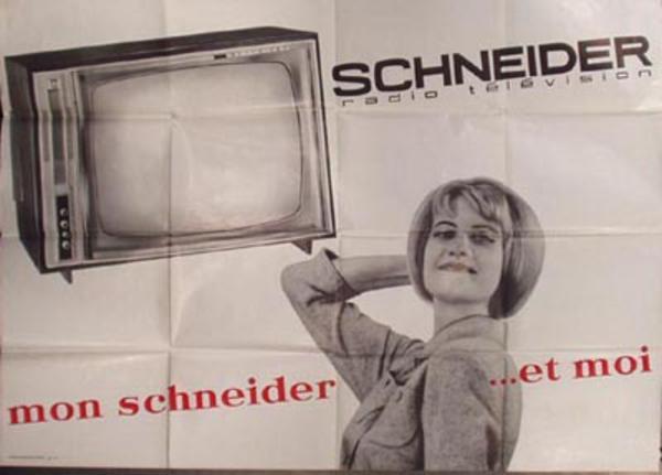 Schneider TV Original Vintage Poster Mon Schneider et Moi