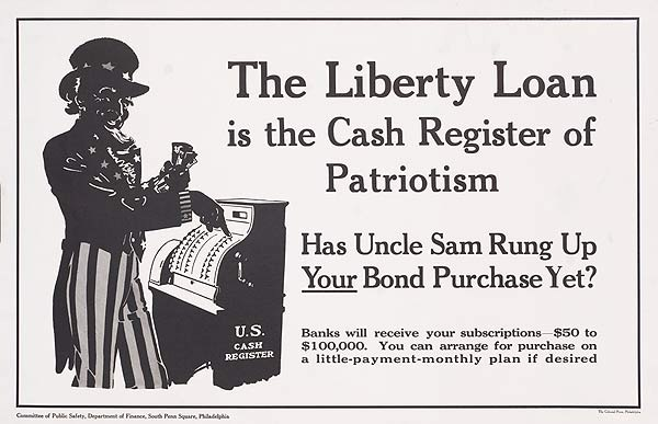 The Liberty Loan is The Cash Register of Patriotism Original WWI Poster