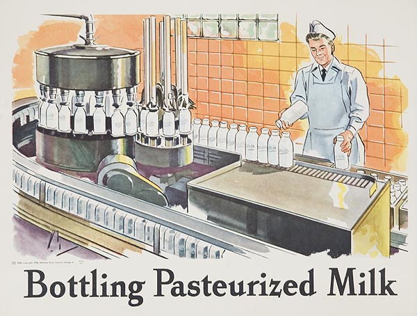 Bottling Pasturized Milk Original Dairy Council Promotional Poster