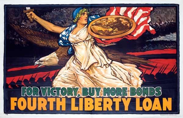 For Victory, Buy More Bonds Fourth Liberty Loan Original WWI Poster