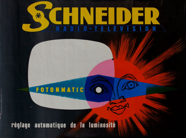 Schneider Sun TV Original Vintage Poster