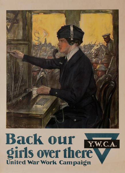 Back Our Girls Over There Original WWI YWCA Poster