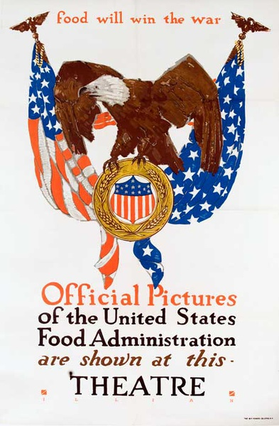 Food Will Win The War Official Pictures of the US Food Administration Original Vintage WWI Poster