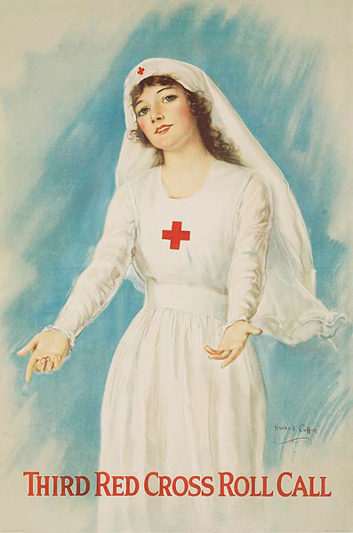 Third Red Cross Roll Call Original WWI Recruting Poster