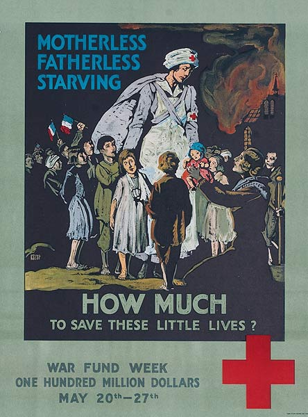 How Much to Save These Little Lives Original American WWI Red Cross Poster