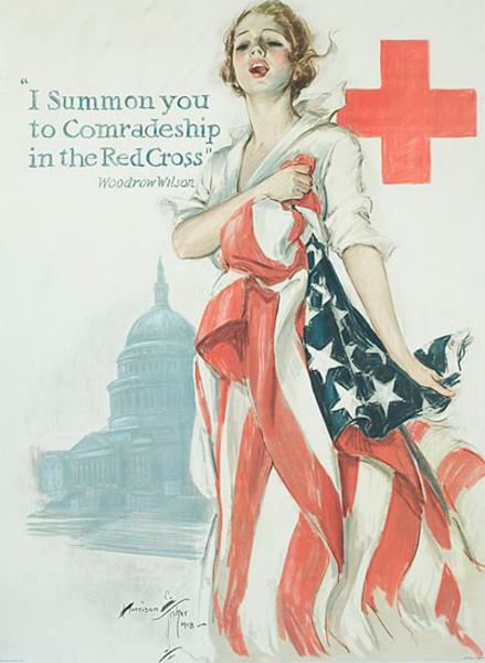 I Summon You Original WWI Red Cross Poster